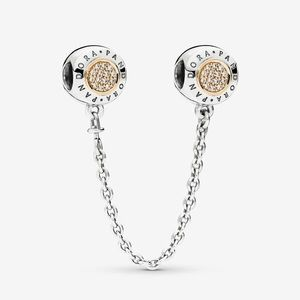 Pandora Two-Toned Safety Chain Silver and 14K Gold